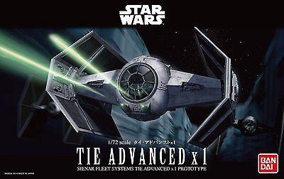 BANDAI Star Wars 1/72 Tie Advanced x1 No. 191407 USA Seller