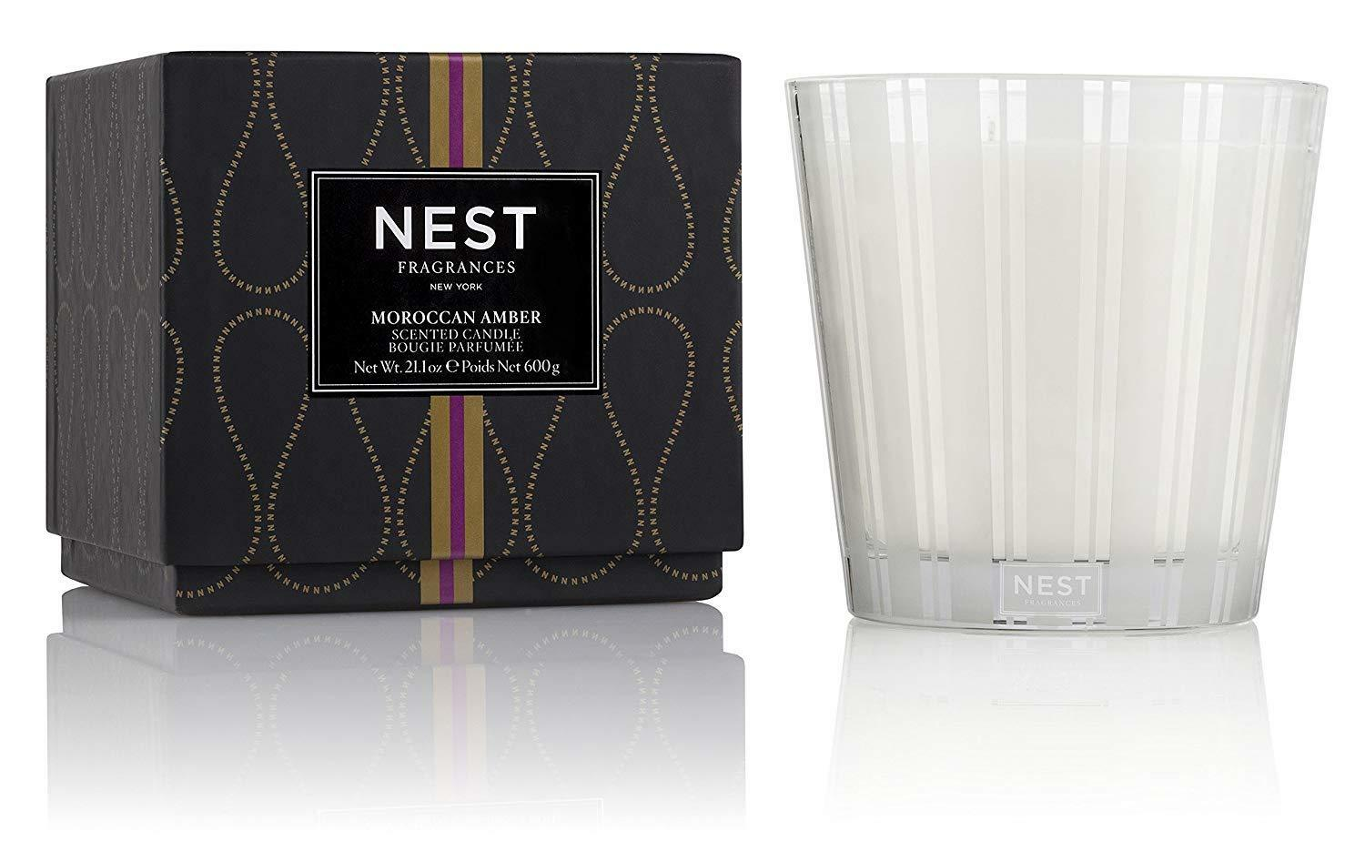 NEST Fragrances 3-Wick Candle- Moroccan Amber, 21.2 oz