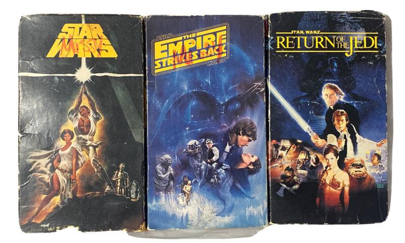 Star Wars Original Trilogy VHS Video Tape Box Set Return Of The Jedi 1992 CBS