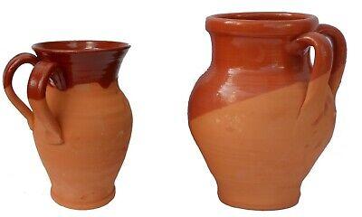 Pignata Classica base stretta - pentola da fuoco in Terracotta ALTEZZA 20 CM