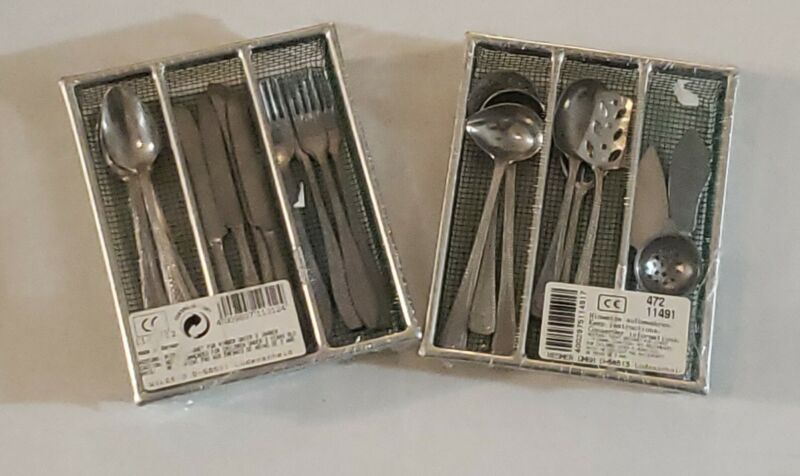 Mini Toy Silverware Set Germany 2 packages  NEW