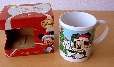 Kinder Becher Tasse Kaffee Kakao Milch, Micky Minnie Maus Weihnachten, NEU & OVP