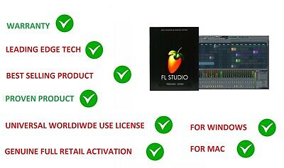 FL STUDIO 20 FRUITY LOOPS PRODUCER MUSIC SOFTWARE RETAIL WINDOWS & MAC LICENSE