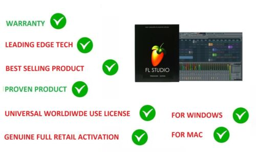 FL STUDIO 20 FRUITY LOOPS PRODUCER MUSIC SOFTWARE RETAIL WINDOWS & MAC LICENSE