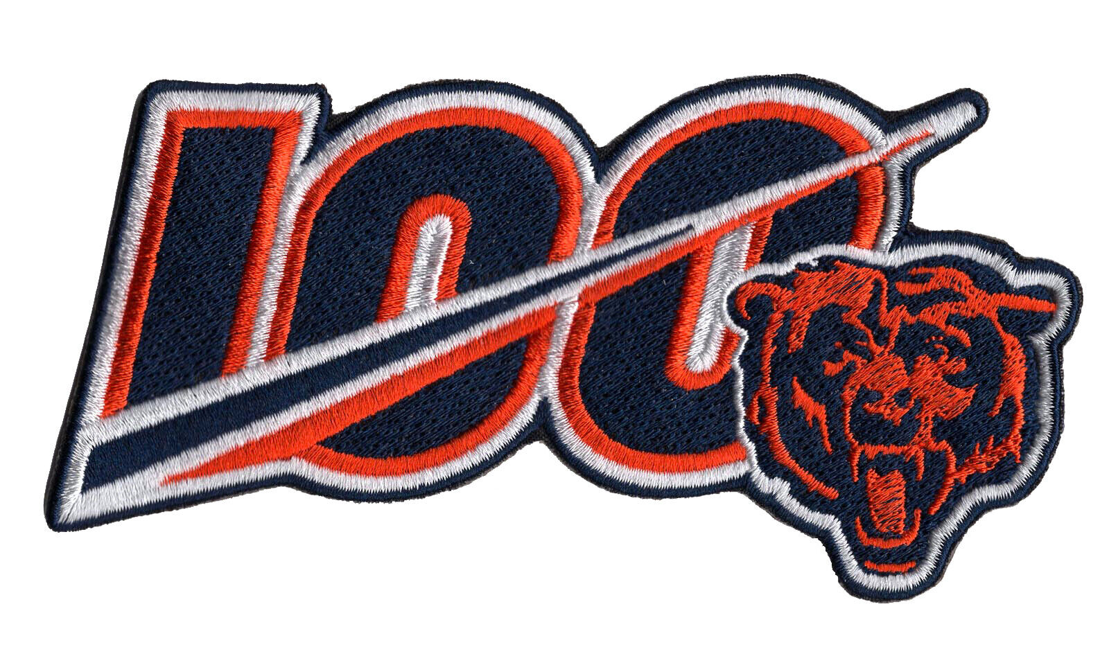 """🏈NEW! 5"""" 2019 CHICAGO BEARS 100th Anniversary Iron-on NFL"""