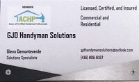 Handyman service available Certified, licensed, and insured