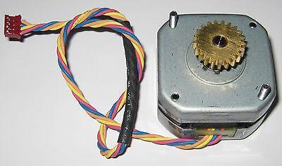 Minebea Stepper Motor W 18.4mm 21 Tooth Gear - 24 V - 3.75 Degstep - 5mm Shaft