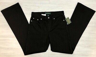 Lauren Ralph Lauren Women's Boot Cut Jeans Black Denim with Stretch Size 2 NWT