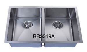 """Handmade u/m double bowl square sink 32""""x19""""x10"""" for $269"""