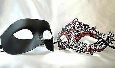 Couples Halloween Masquerade Ball Mask Black White Costume Prom Party (Black And White Couple Costumes)