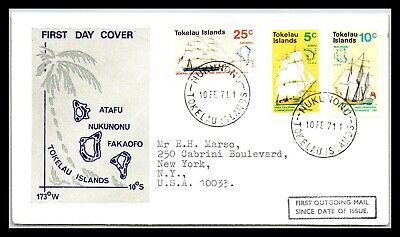 GP GOLDPATH: TOKELAU ISLANDS COVER 1971 FIRST DAY COVER _CV677_P14