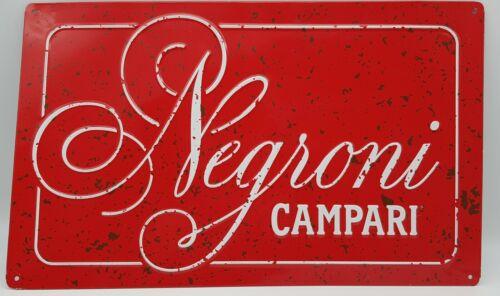 Classic Negroni Campari advertisement Tin sign Man Cave Bar 10x16