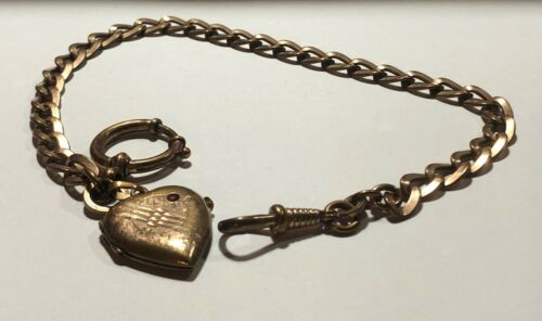 Antique Gold Plated Pocket Watch Chain