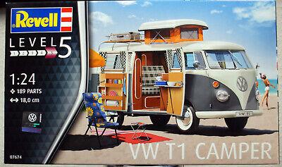 Revell 07674 1961 Volkswagen VW Bulli Typ 2 T 1 Westfalia Camper 1:24