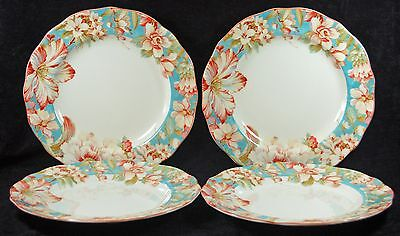 Teal Dinner Plates (BEAUTIFUL 222 FIFTH FLORAL