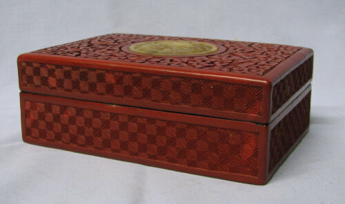 Hand carved Cinnabar Box.