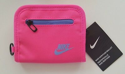Nike Heritage Bi-Fold Zip Wallet Pink/University Blue Small