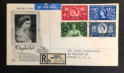 Great Britain-Tangier 1953 Coronation FDC First Day cover
