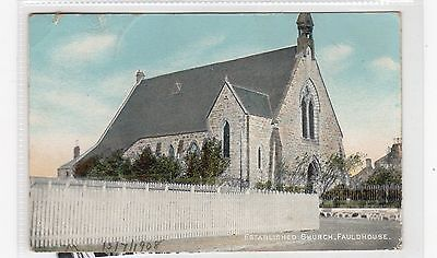 ESTABLISHED CHURCH, FAULDHOUSE: West Lothian postcard (C26703)