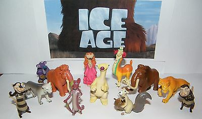 Ice Age Movies Party Favors Set of 13 Fun Figures with Scrat, Sid, Diego Etc - Popeye Party Supplies