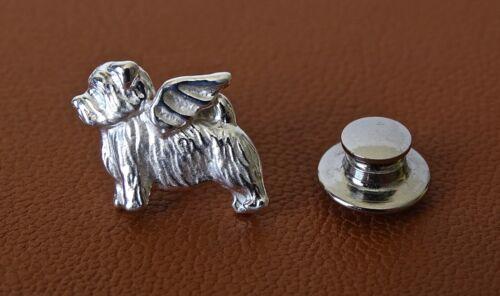 Sterling Silver Norfolk Terrier Angel Lapel Pin