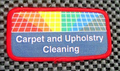 "CARPET UPHOLSTRY CLEANING PRINTED SEW ON PATCH UNIFORM ADVERTISING 4"" x 2"""