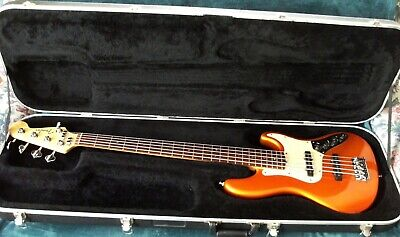 2004 FENDER AMERICAN DELUXE JAZZ BASS 5-STRING 18-VOLT RARE COLOR CASE FREE SHIP