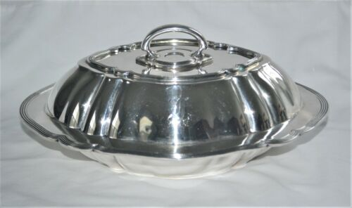 International Silver Chippendale Covered Sterling Silver Vegetable Serving Dish