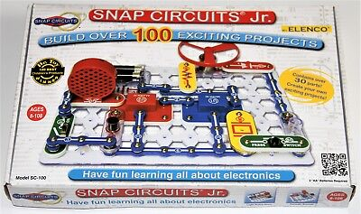 Elenco Snap Circuits Jr. SC-100 Kit Ages 8-108 Build Over 100 Projects