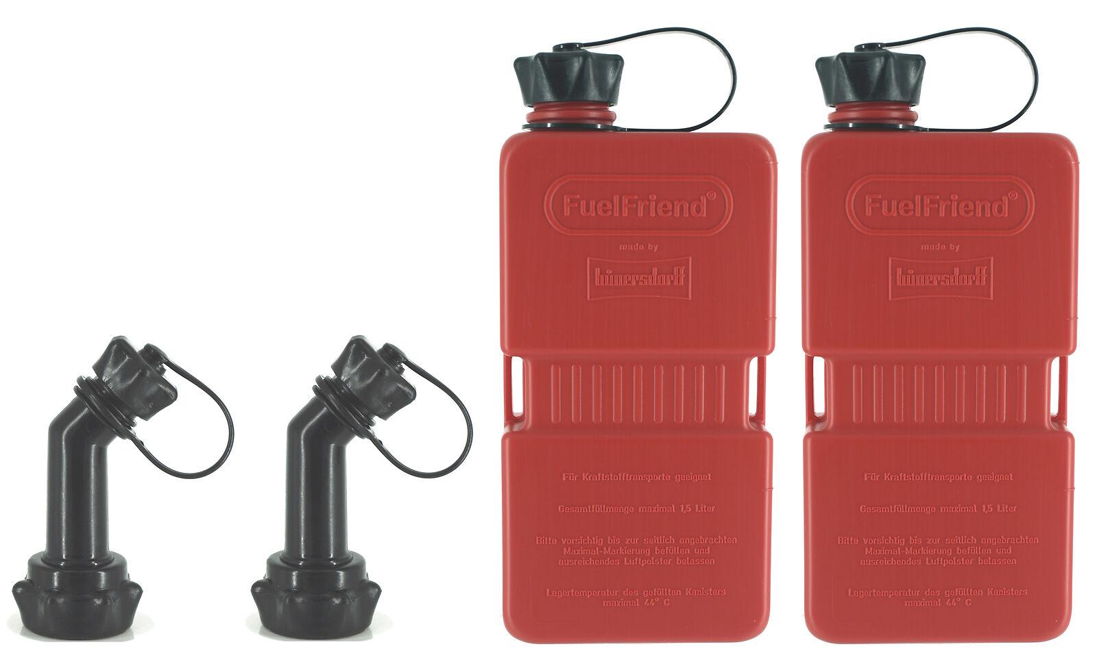 2x Fuelfriend-plus 1,5 Liter Mini-reservekanister + Füllrohr Verschließbar 0