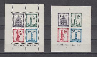 Baden, Block 1A und 1B, postfrisch