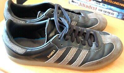 Adidas Samba OG Carbon/Black leather size 10. Good condition.