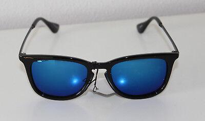 Oramics Sonnenbrille Blau, Rahmen Schwarz und Brillengläser Blau Sonnen Brille