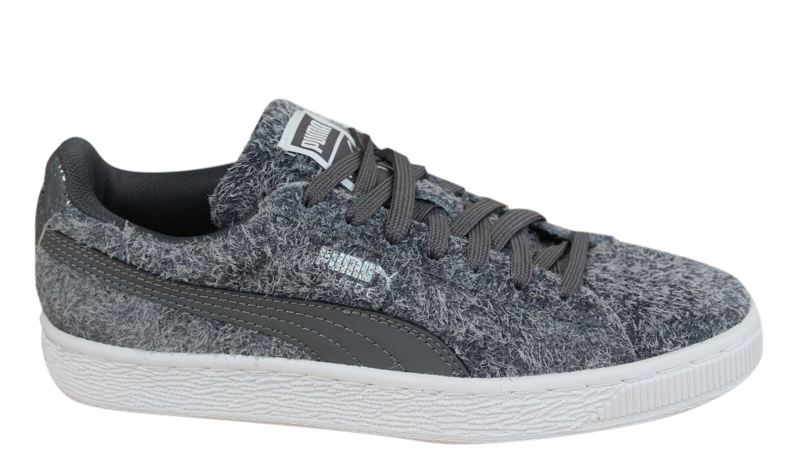 Details zu Puma Suede Elemental Womens Trainers Lace Up Shoes Grey Leather 361112 01 P3F