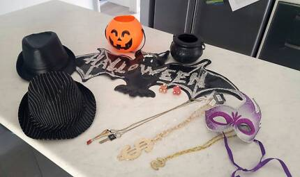 Costumes and decorations for fancy dress or Halloween