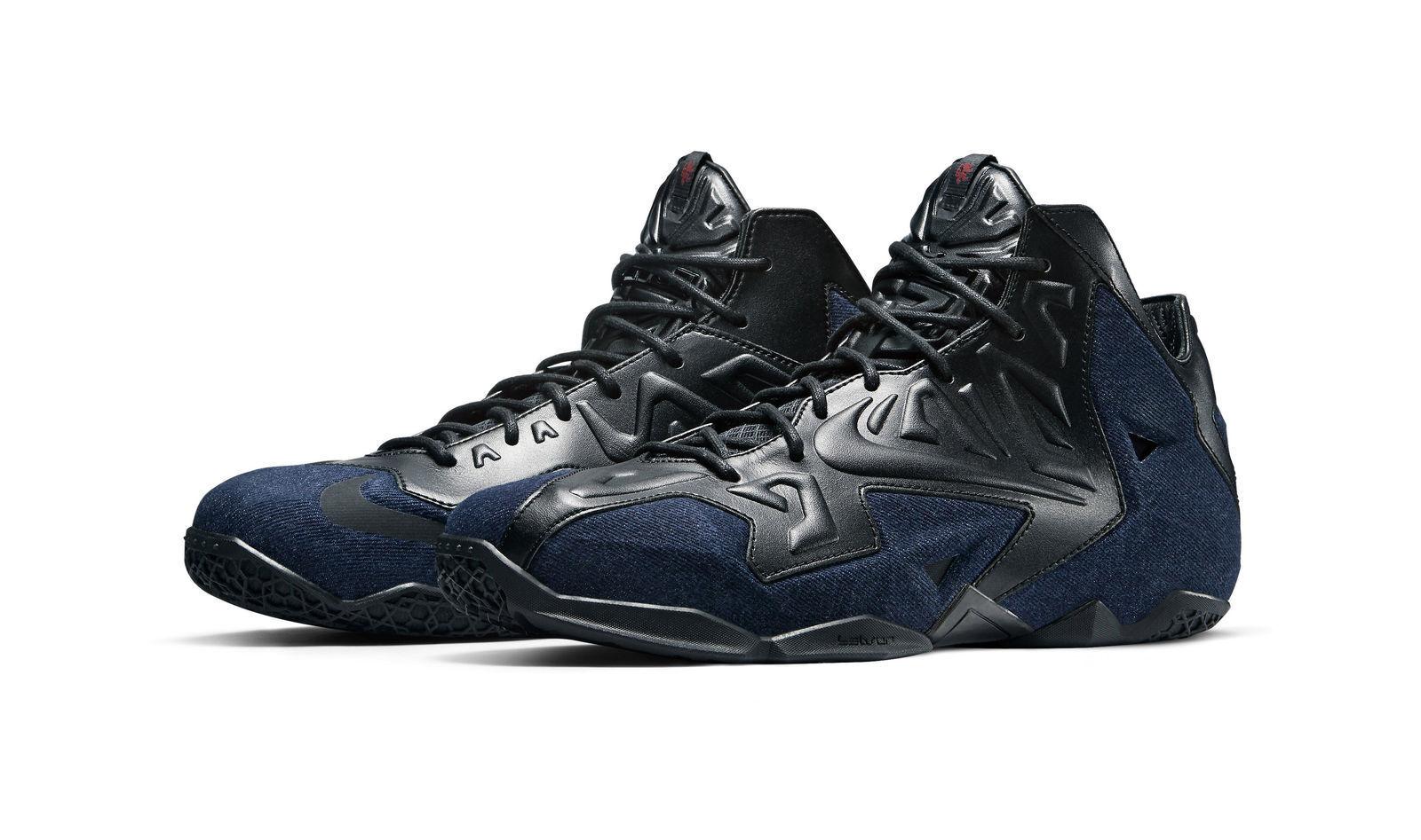 c176c467e7f Nike Lebron XI 11 EXT QS Denim Blue Black 659509-004 Sz 10 for sale ...