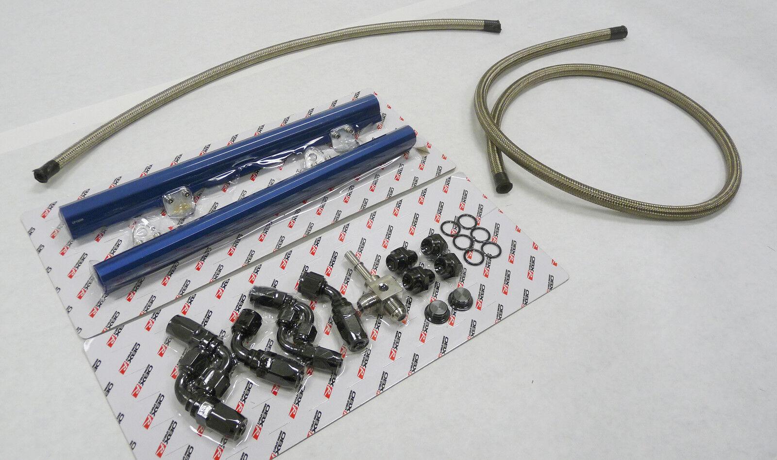 OBX Blue Alum Fuel Injection Rail Fit 98-02 Camaro Firebird 5.7L LS1 GM F-Body