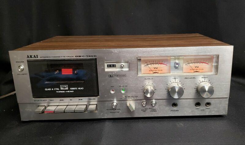 Vintage Akai gxc-725d 3 Head Cassette Deck