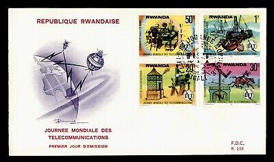 DR WHO 1977 RWANDA FDC WORLD TELECOMMUNCATIONS DAY  C243997