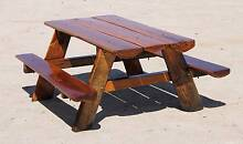 Hardwood BBQ setting outdoor picnic table bench slab furniture Cowper Clarence Valley Preview