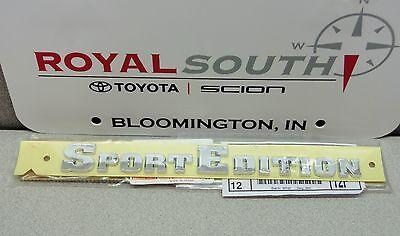 Toyota 4Runner Front Door Sport Edition Emblem Name Plate Genuine OE OEM