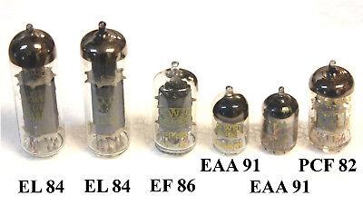 6 Stück Elektronenröhren