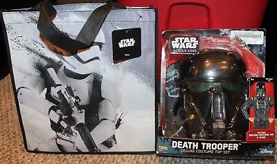 New! Boys Star Wars 2 pc Death Trooper Costume+Candy Bag! (Halloween) - Size 4-6 - Halloween 4 Deaths
