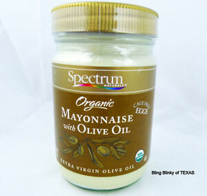 ... Spectrum Organic Mayonnaise with Olive Oil Cage Free Eggs Gluten Free