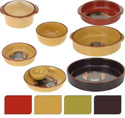 Glazed Terracotta Oven Safe Tapas Serving Dish Bowl