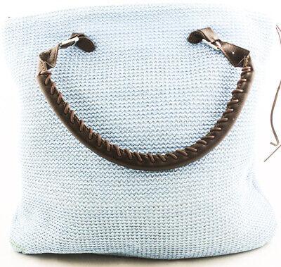Blau Stroh Handtaschen (Rolling Sage Blau Handtasche Portemonnaie Synthetisch Stroh Große Tasche)