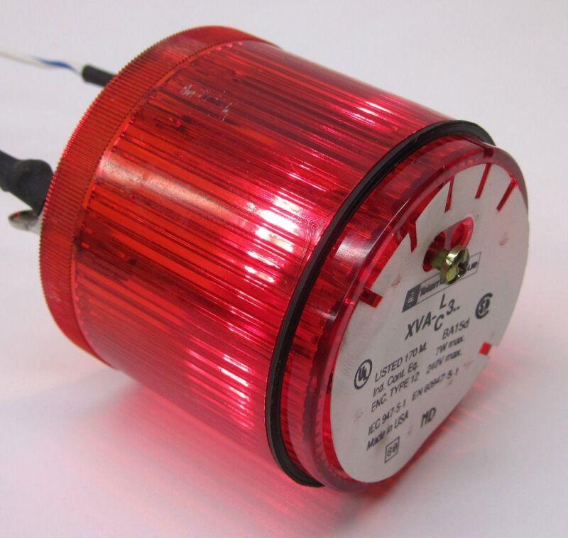 Telemecanique XVA-C341 Stack Light Lens, Red, XVAC341, XVA-LC3 w/ 24/30V 4W Lamp