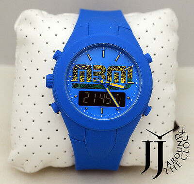 New Marc by Marc Jacobs X-Up Yellow Jacket Blue Silicone Ana Digi Watch MBM5531