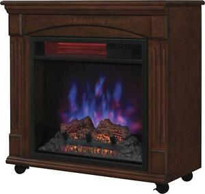 FIREPLACE - QUARTZ HEATER WITH BEAUTIFUL WALNUT FINISH - A CLASSY ADDITION TO ANY ROOM!