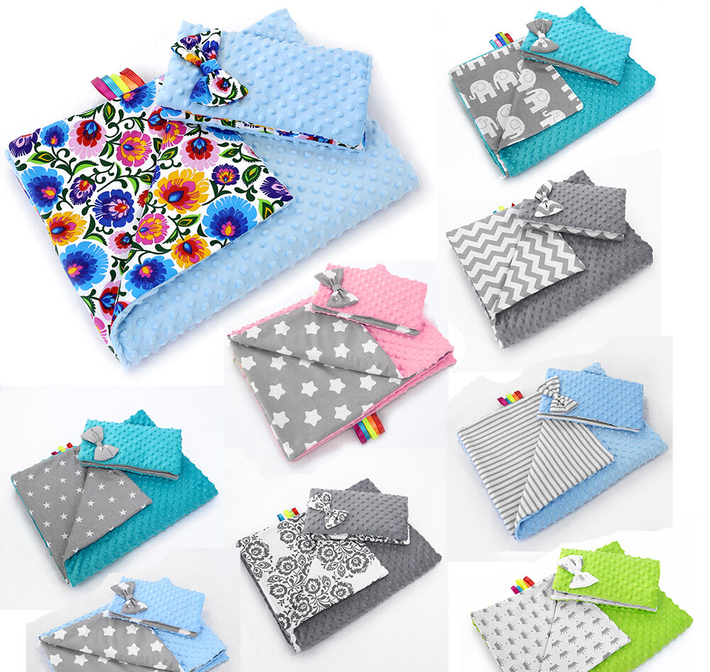 BABY BLANKET MINKY FLUFFY COTTON SOFT TO TOUCH WARM QUILT PILLOW 100x75 cm